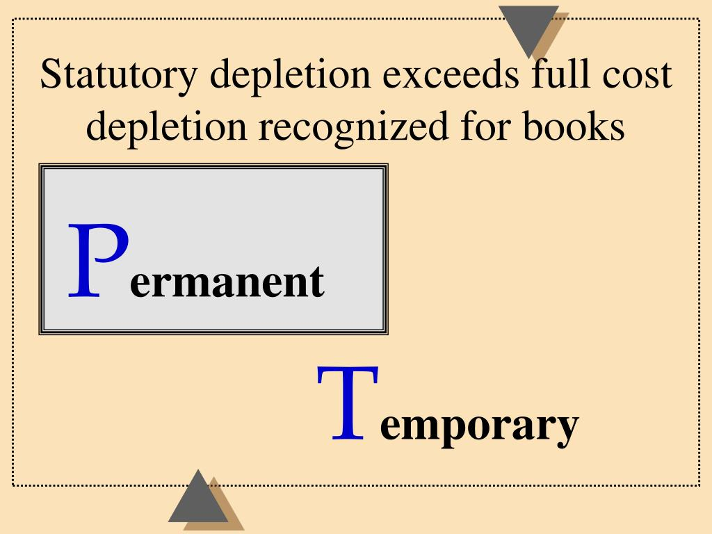 Statutory depletion exceeds full cost depletion recognized for books