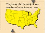 they may also be subject to a number of state income taxes