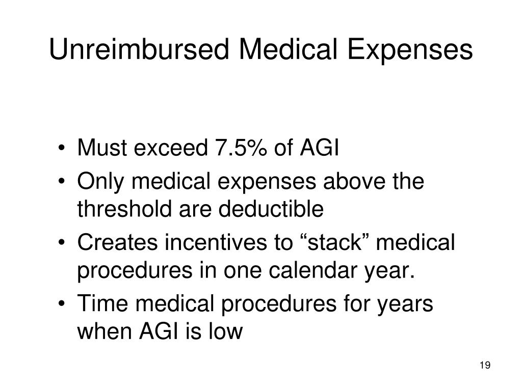 Unreimbursed Medical Expenses