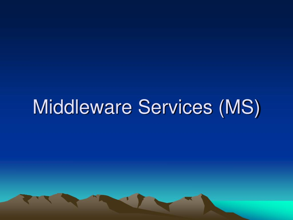 Middleware Services (MS)
