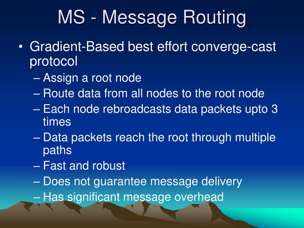 MS - Message Routing