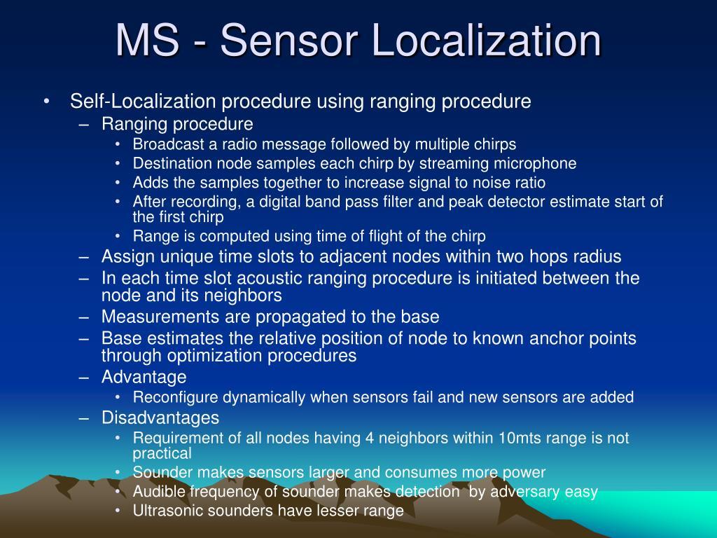MS - Sensor Localization