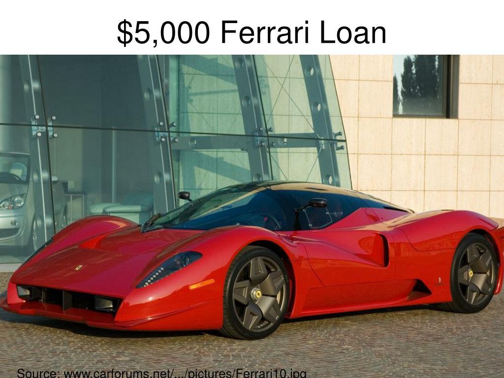 $5,000 Ferrari Loan