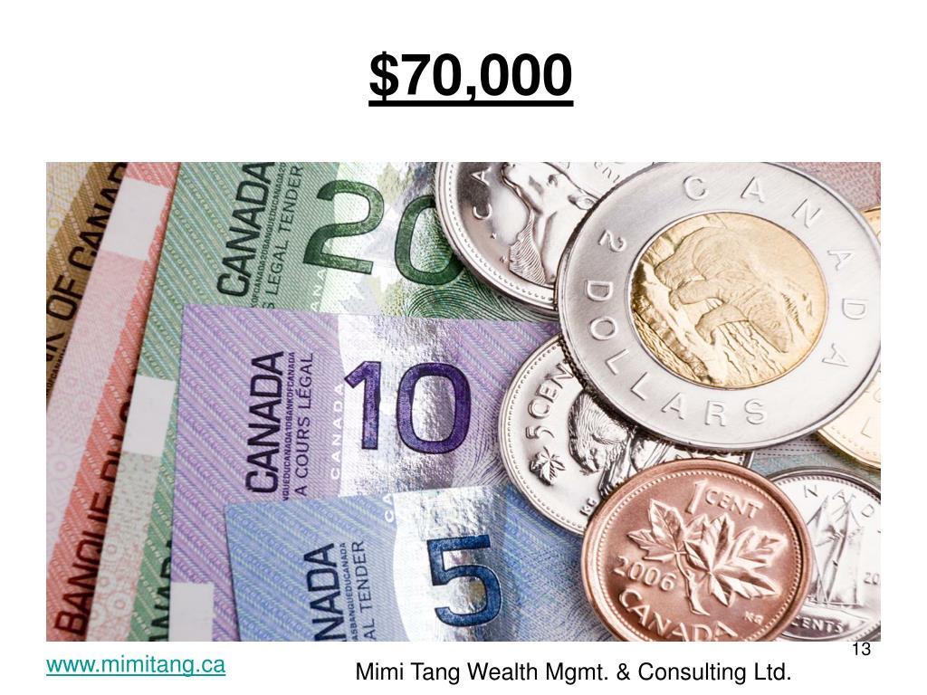 $70,000