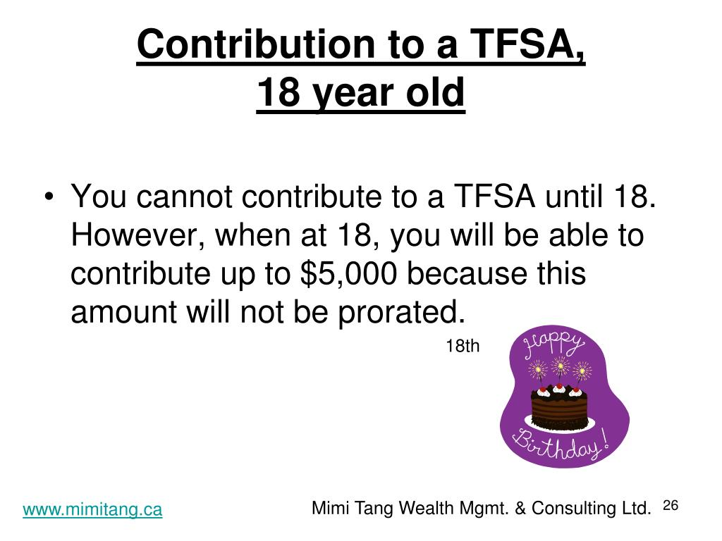 Contribution to a TFSA,