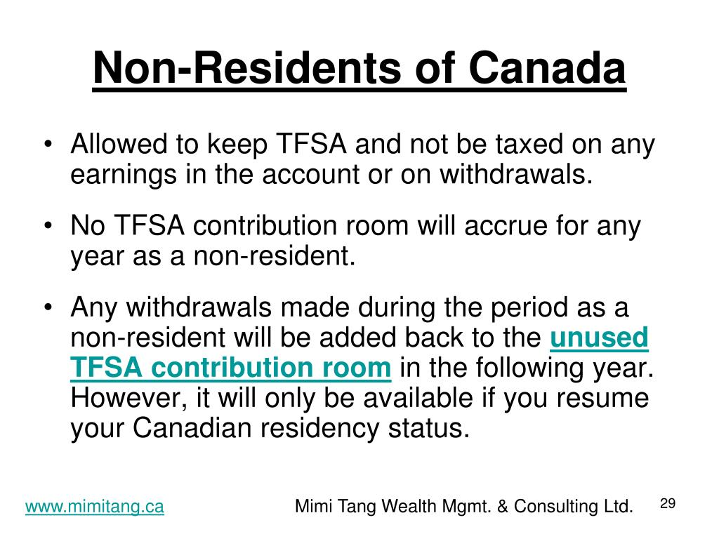 Non-Residents of Canada