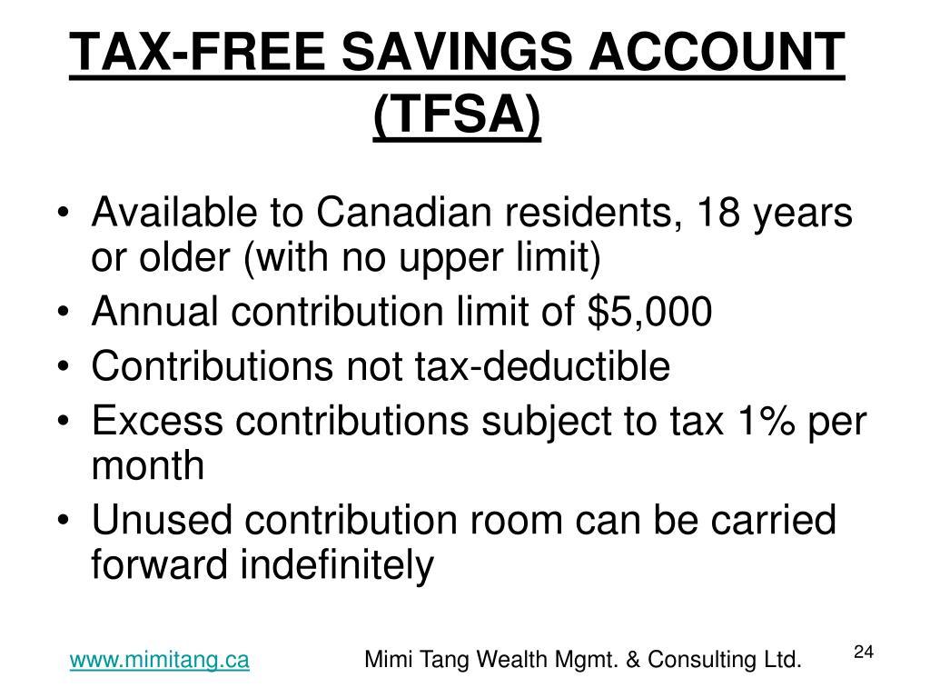TAX-FREE SAVINGS ACCOUNT (TFSA)