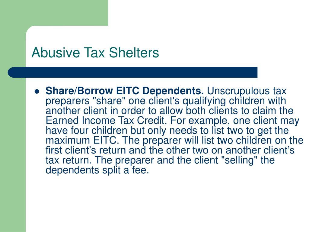 Share/Borrow EITC Dependents.