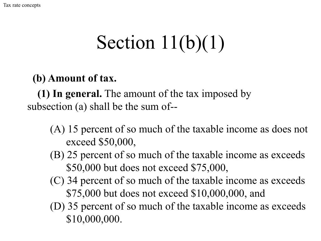 Tax rate concepts