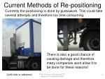 current methods of re positioning14