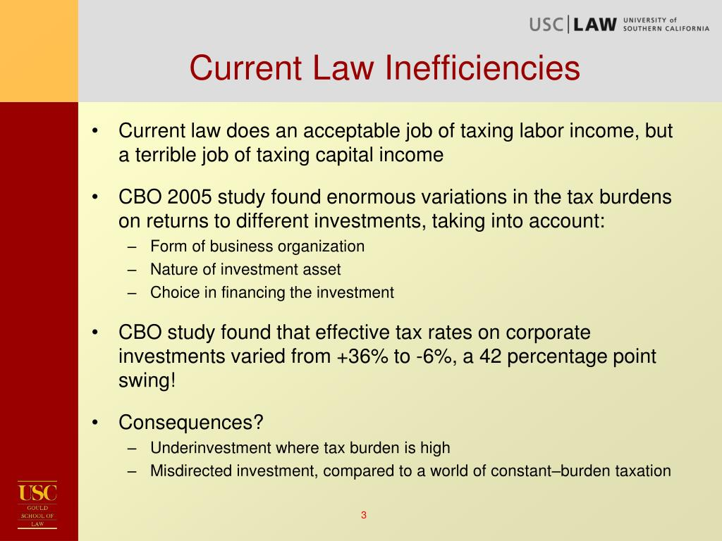 Current Law Inefficiencies