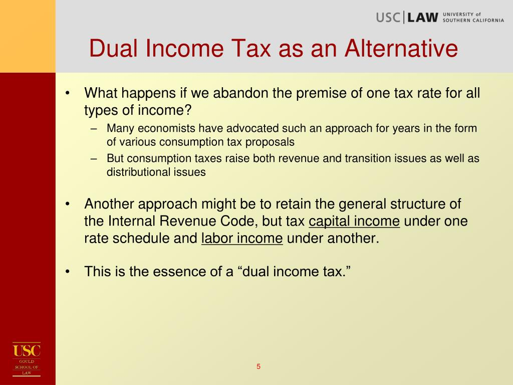 Dual Income Tax as an Alternative