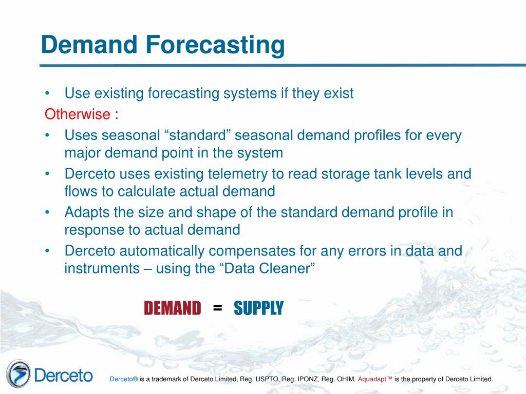 Use existing forecasting systems if they exist