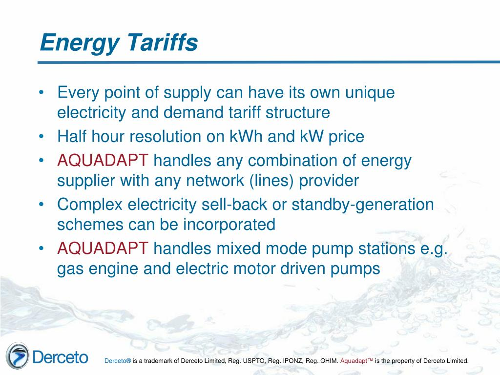Energy Tariffs