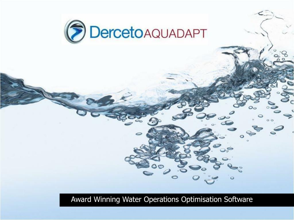 Award Winning Water Operations Optimisation Software