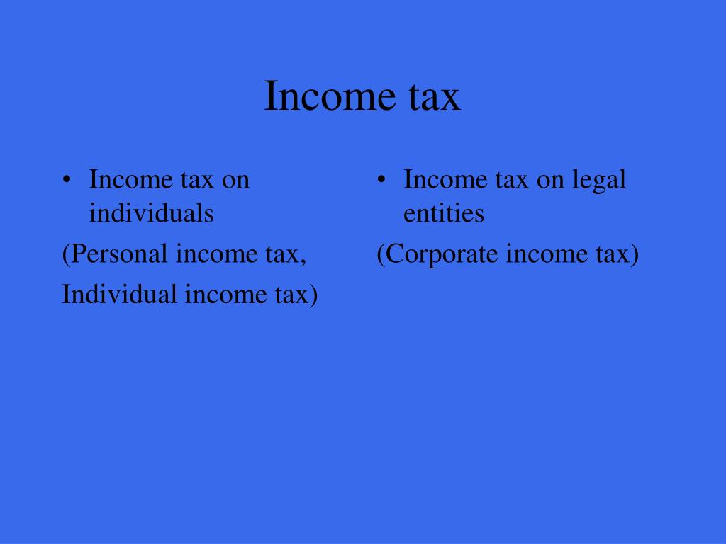 Income tax on individuals
