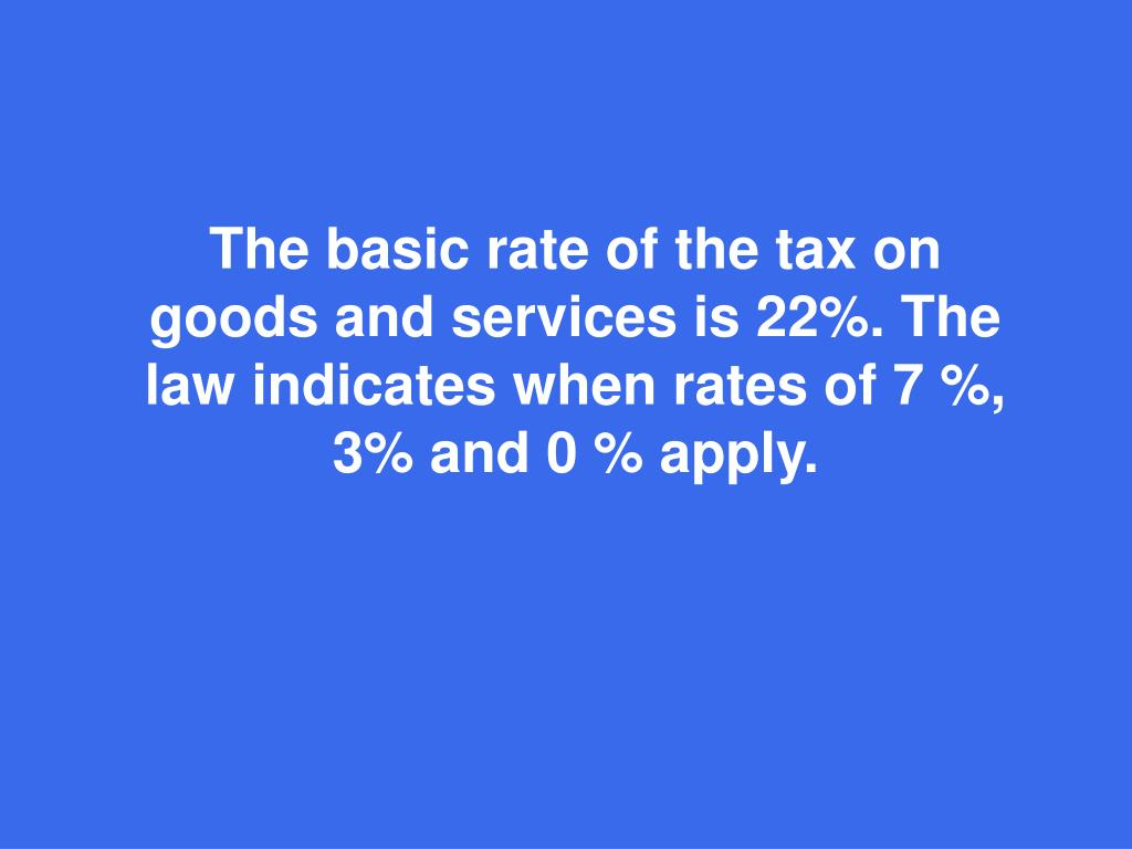 The basic rate
