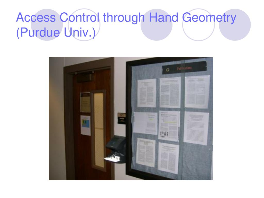 Access Control through Hand Geometry (Purdue Univ.)