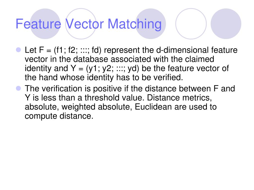 Feature Vector Matching