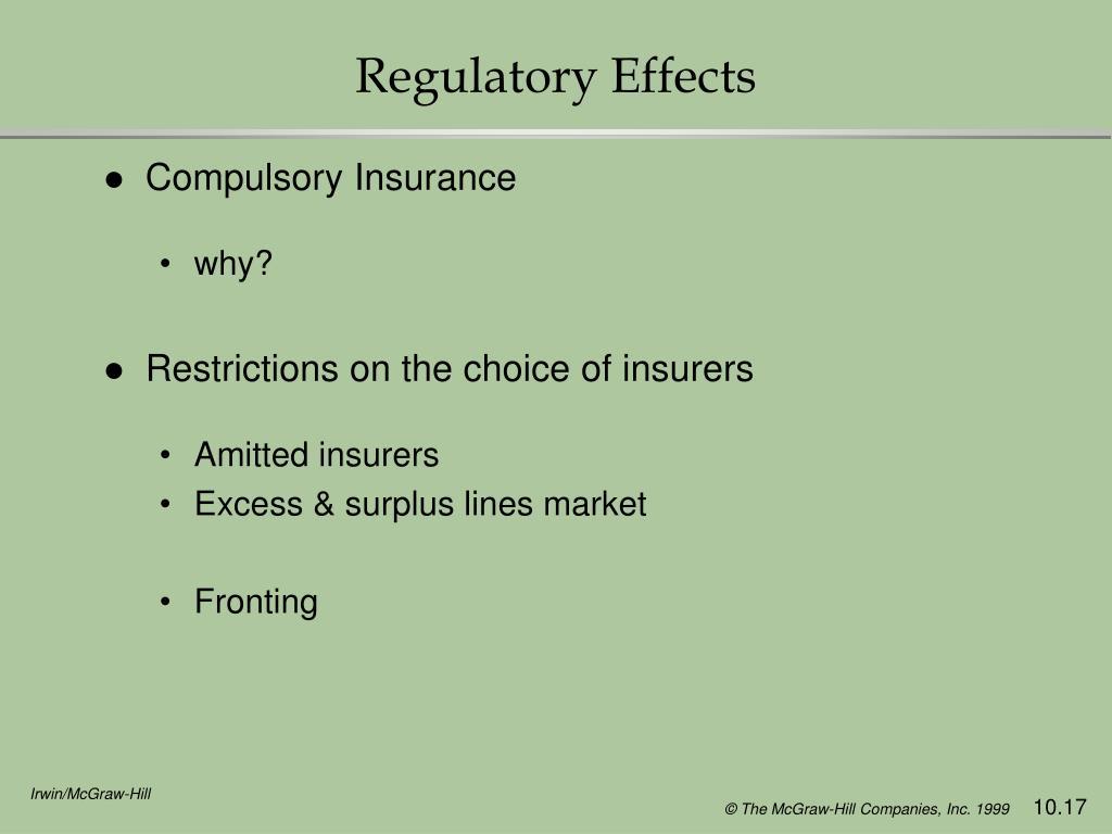 Regulatory Effects