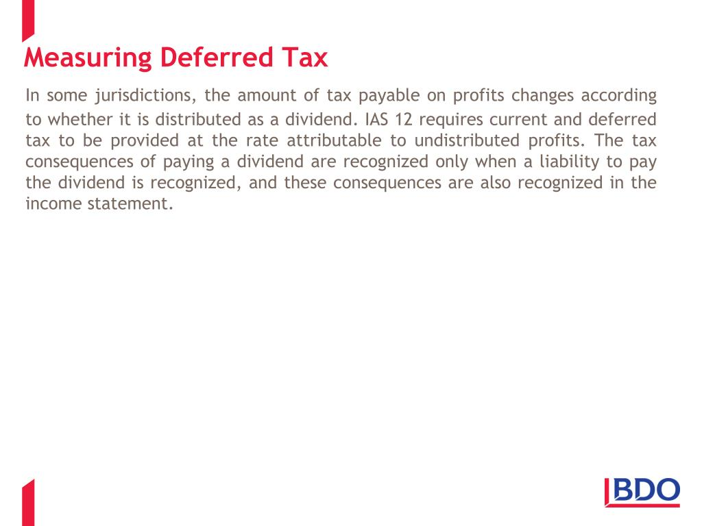 Measuring Deferred Tax