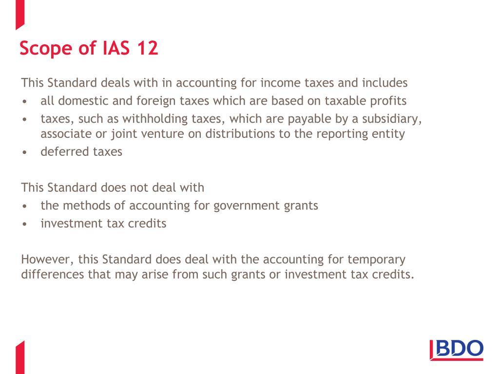 Scope of IAS 12