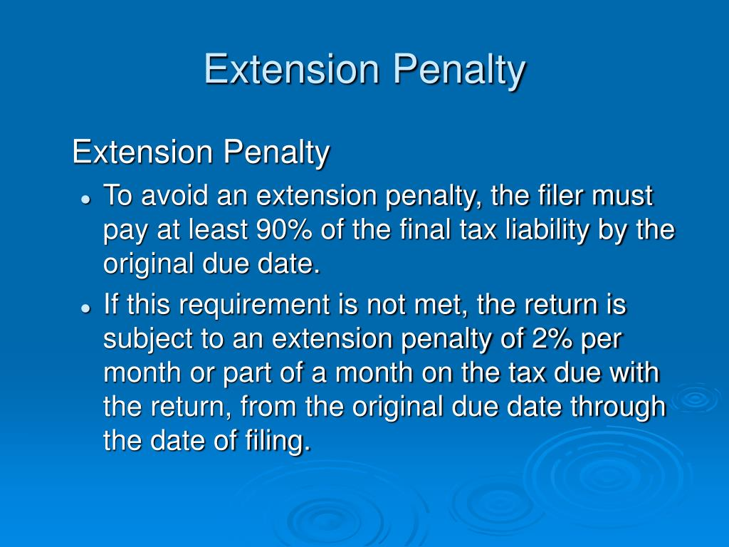 Extension Penalty