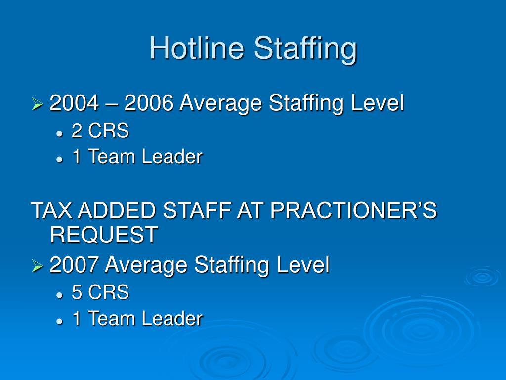 Hotline Staffing