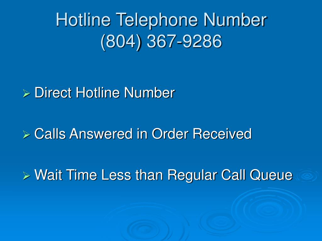 Hotline Telephone Number