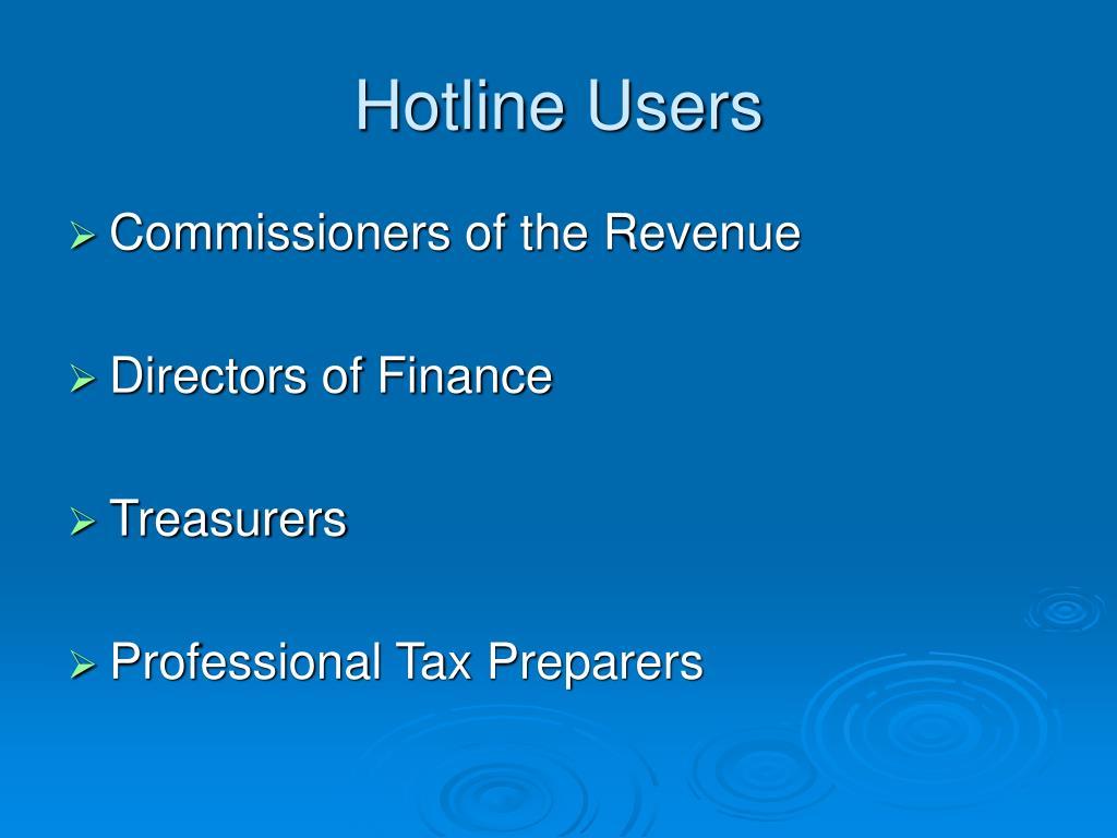 Hotline Users