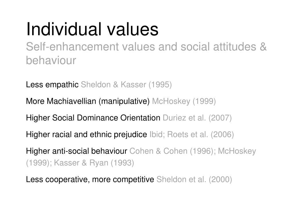 Individual values