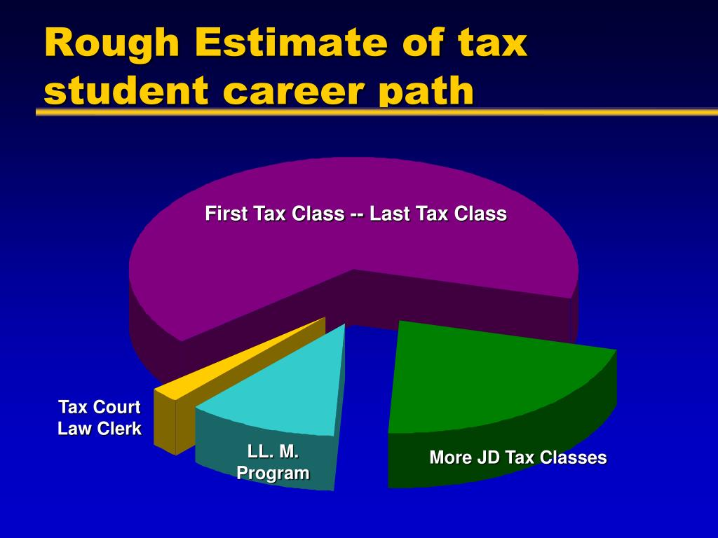 Rough Estimate of tax student career path