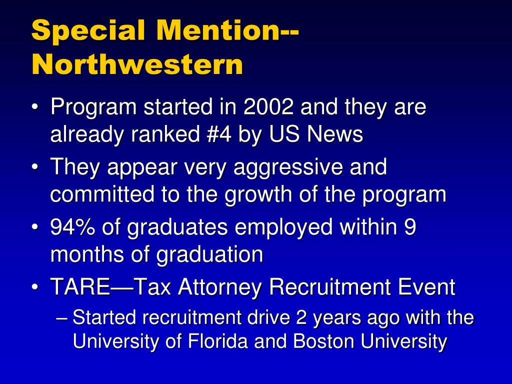 Special Mention--Northwestern