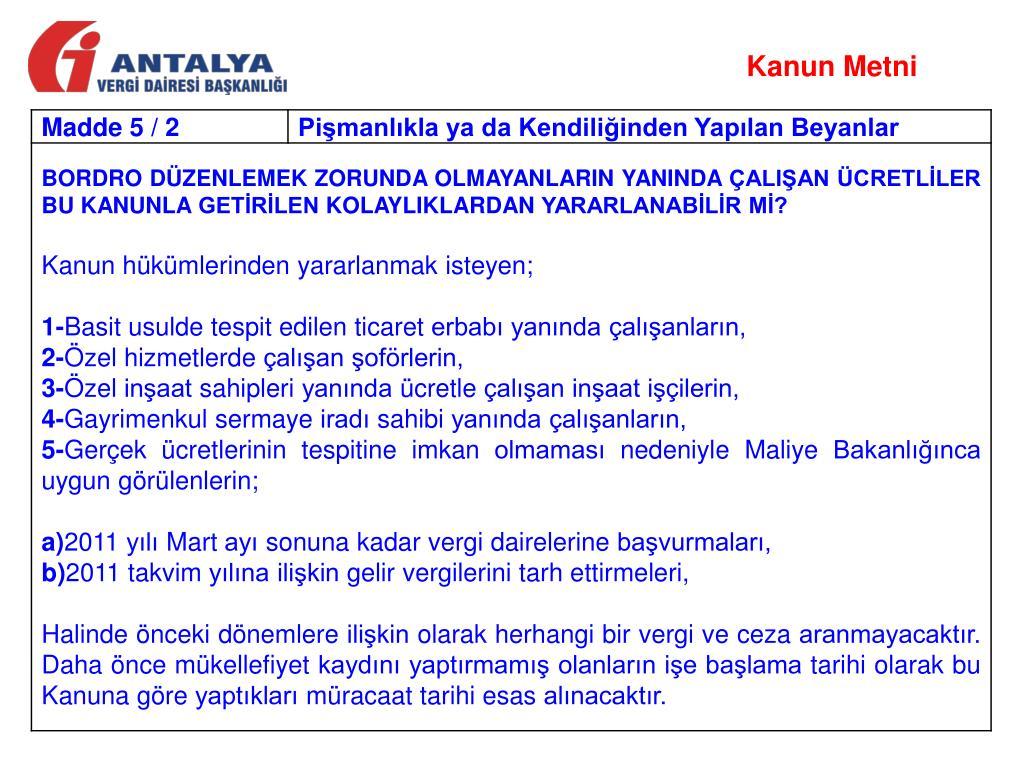 Kanun Metni