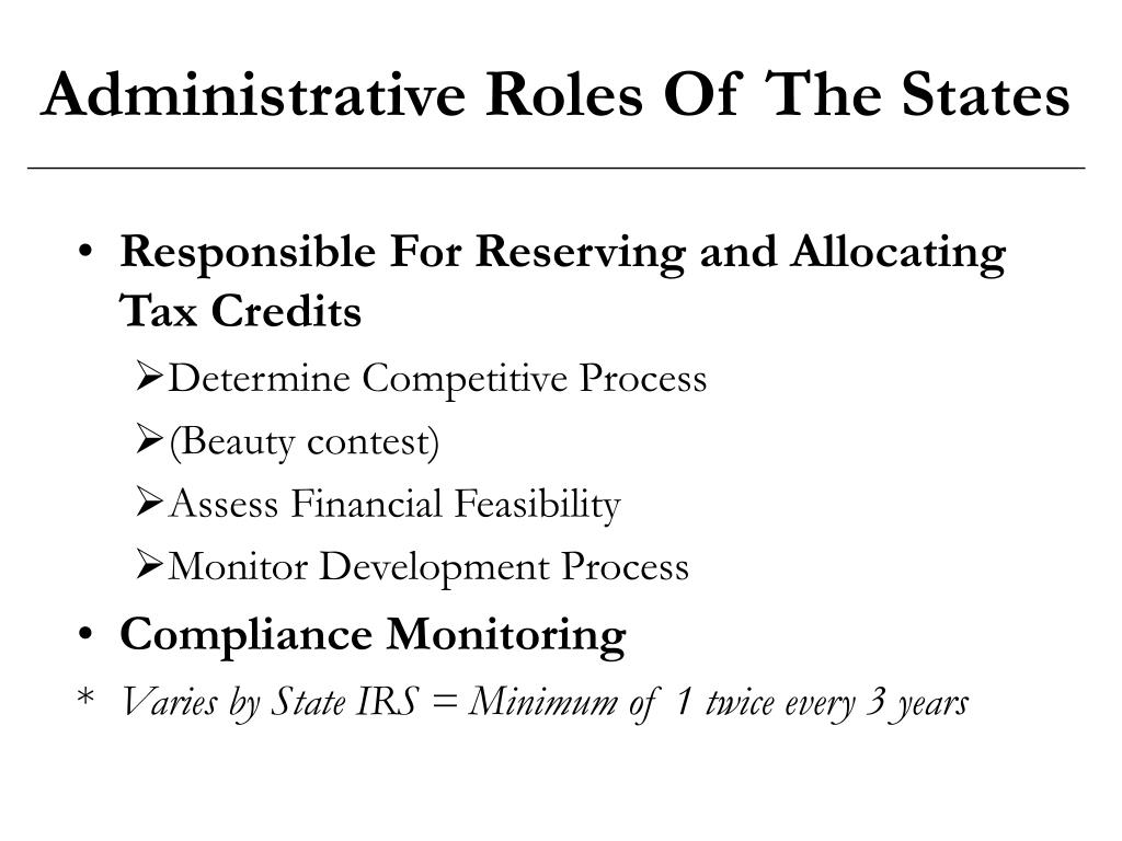 Administrative Roles Of The States