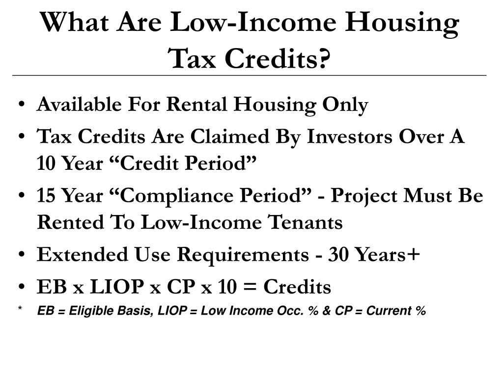 What Are Low-Income Housing Tax Credits?