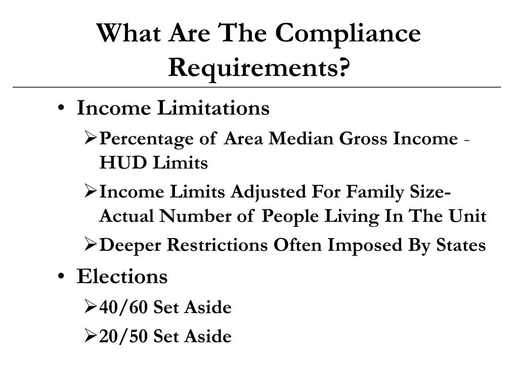 What Are The Compliance Requirements?