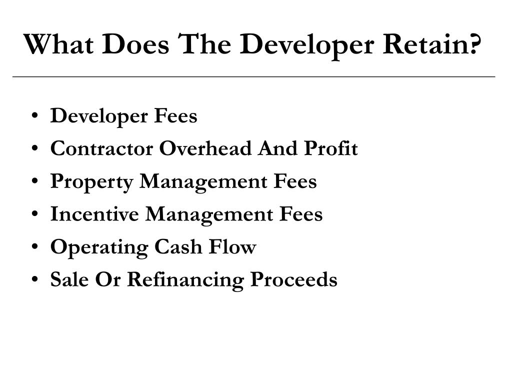 What Does The Developer Retain?