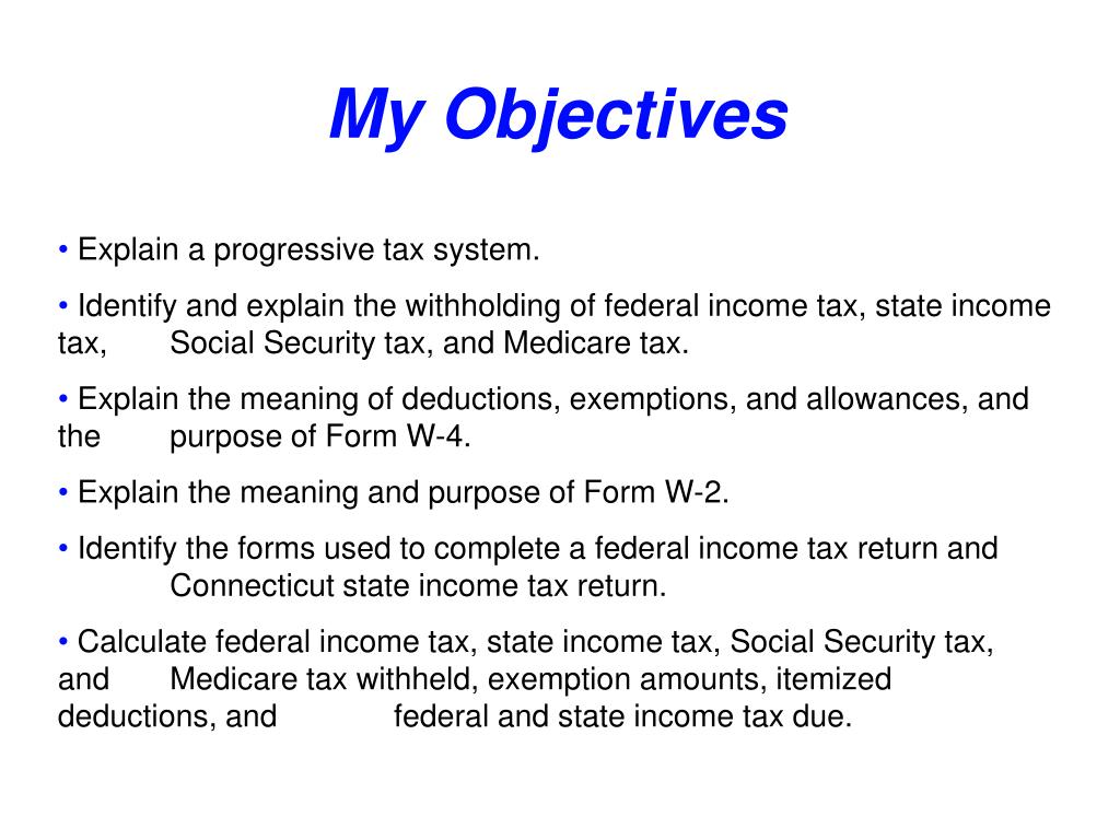 My Objectives
