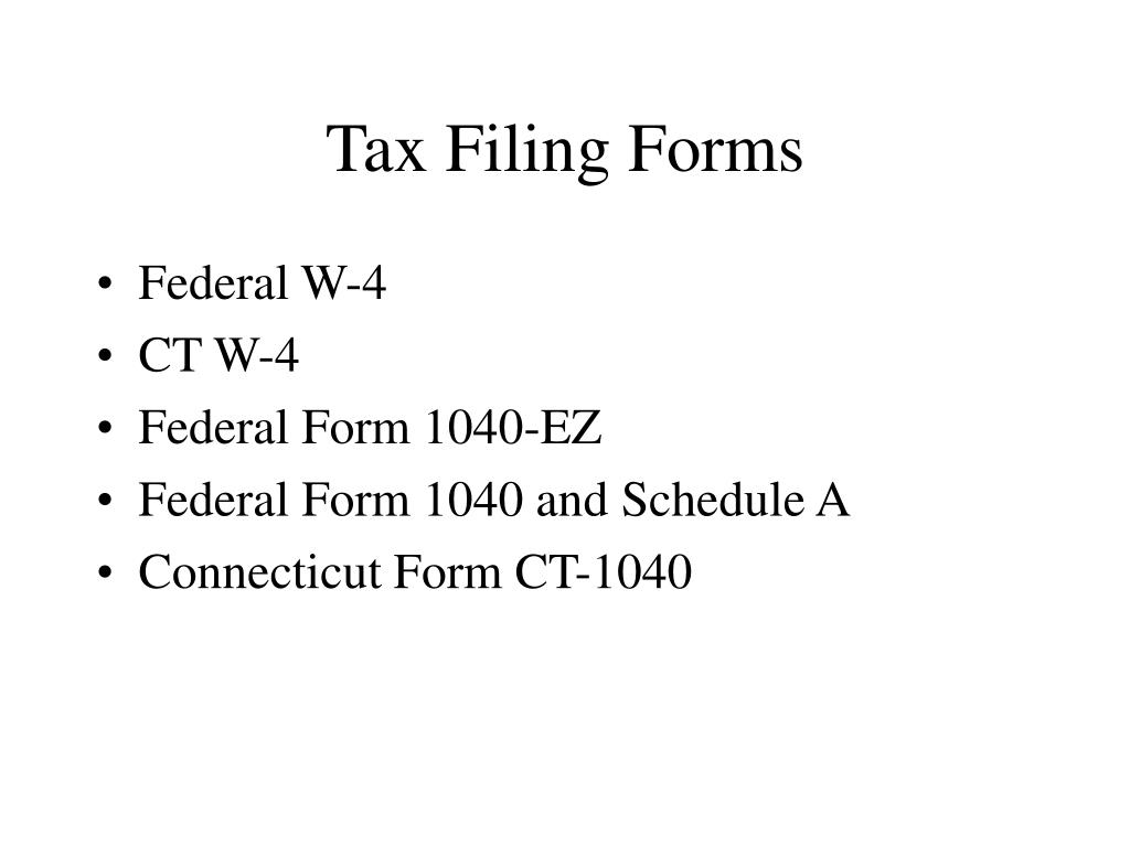Tax Filing Forms