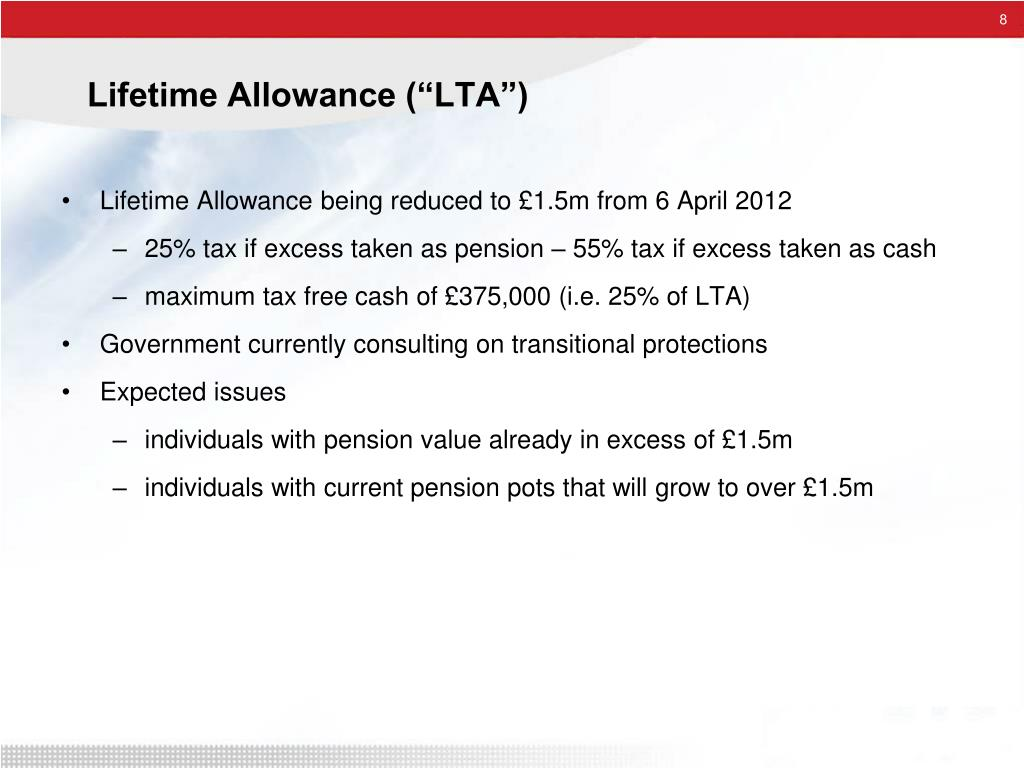 "Lifetime Allowance (""LTA"")"