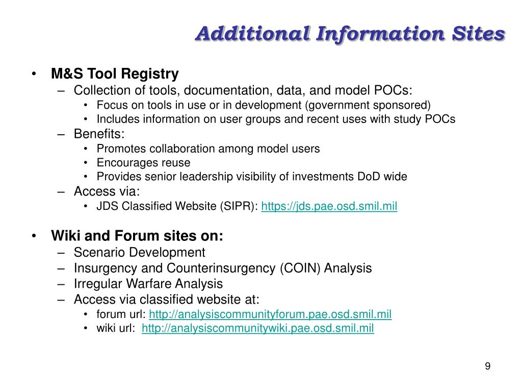Additional Information Sites