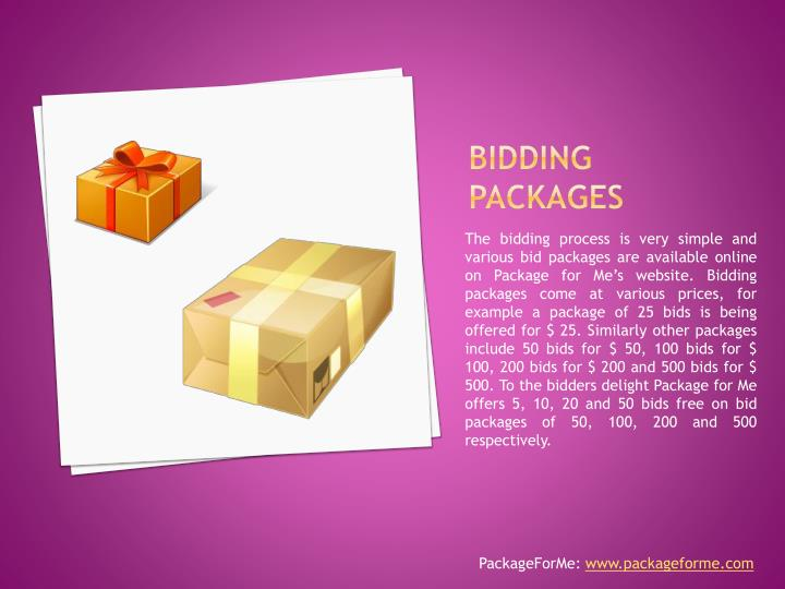 Bidding packages
