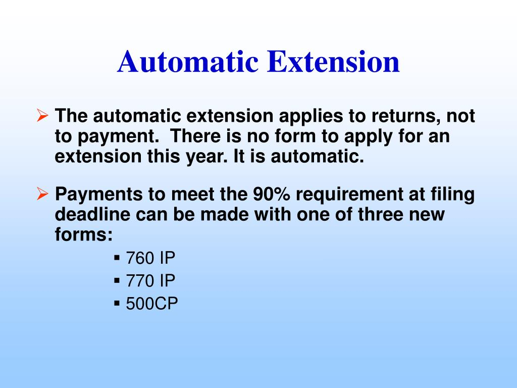 The automatic extension applies to returns, not to payment.  There is no form to apply for an extension this year. It is automatic.