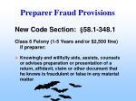 preparer fraud provisions39