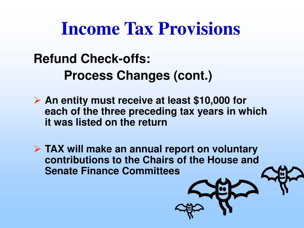 Refund Check-offs: