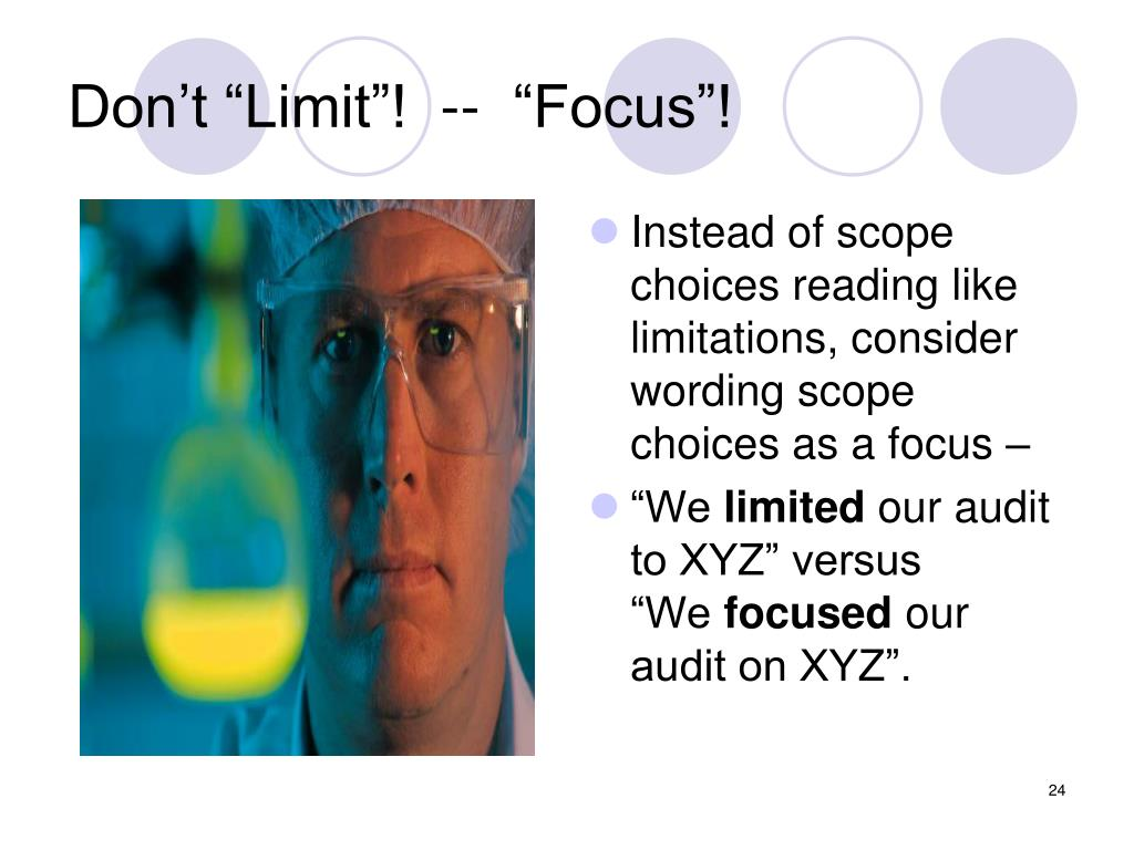 """Don't """"Limit""""!  --  """"Focus""""!"""