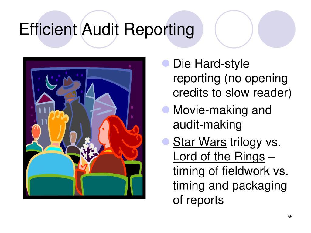 Efficient Audit Reporting