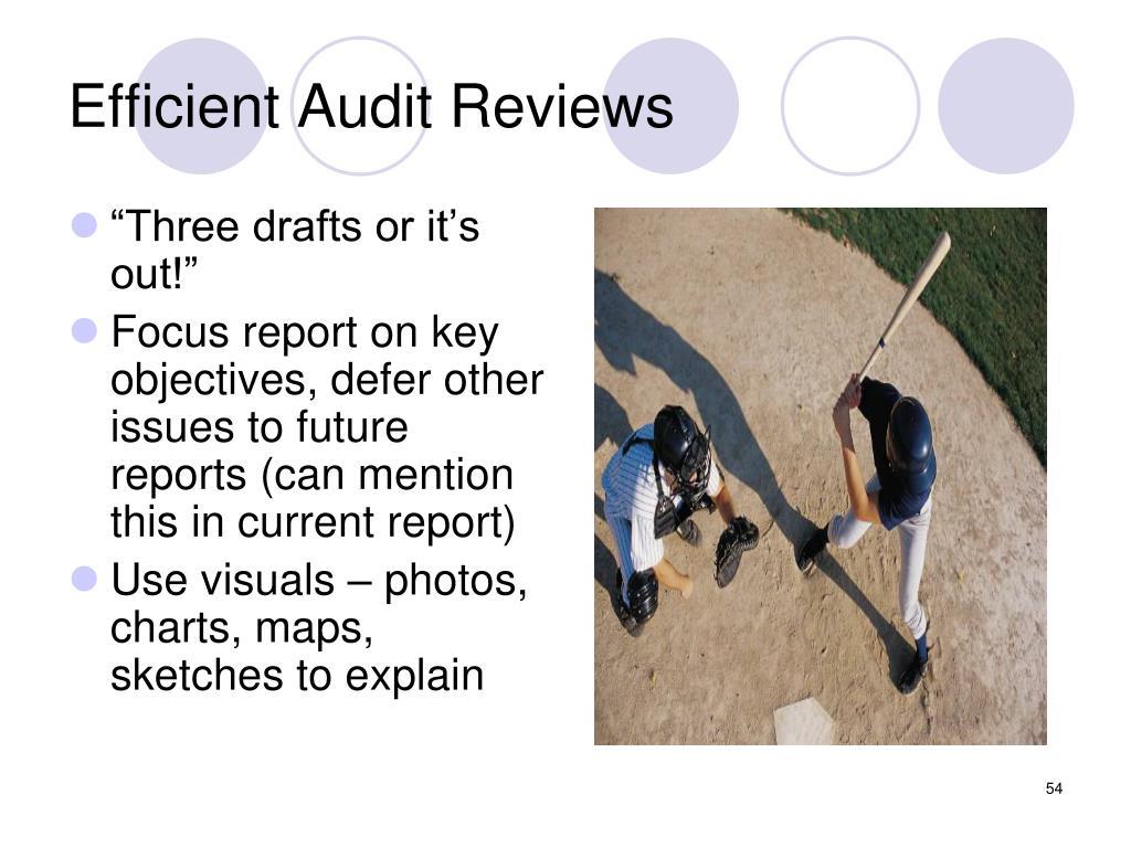 Efficient Audit Reviews