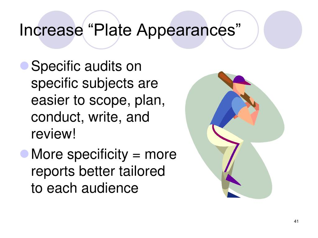 "Increase ""Plate Appearances"""